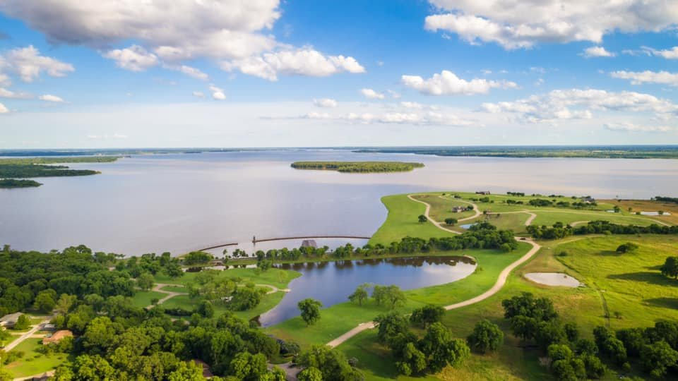 Aerial Real Estate Photography by Sky Guys on Cedar Creek Lake